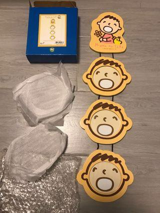 MINNA NO TABO Wooden Photoframe -3 age 大口仔相架
