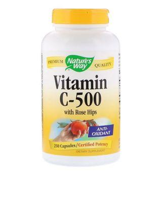 代購Nature's Way, Vitamin C-500 with Rose Hips, 250 Capsules