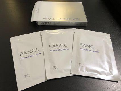 (全新)Fancl whitening mask 美白面膜 3包裝