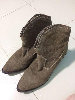 Suede Ankle boots brown size US 5.5