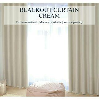 Set of 2pcs Sunlight Blackout Curtains - Cream