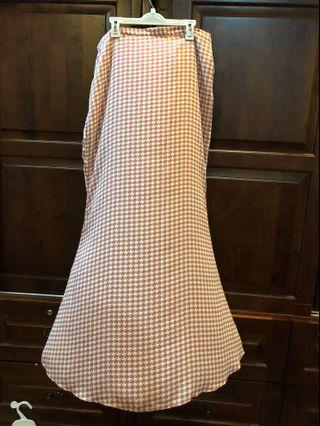 Poplook Curve Houndstooth Skirt Plus Size