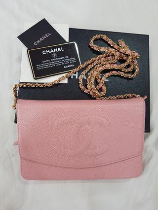 Chanel Timeless WOC Pink Caviar