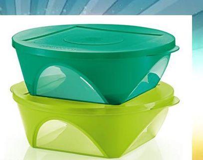 Tupperware Emerald Bowls (2)