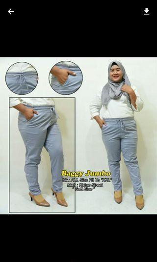 Jumbo BAGGY celana panjang wanita basic PREMIUM