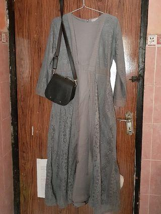 #BAPAU Dress brukat premium