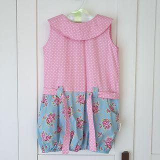 [For 2-3 Years Old] Kids / Children / Toddler / Baby Girl Pink + Blue Dress