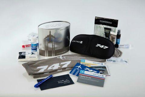 United Airlines First Class 747 Amenity Kit
