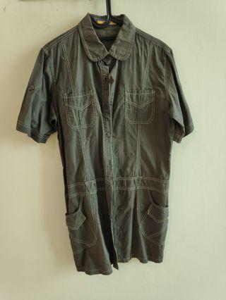 Dress shirt kemeja panjang army