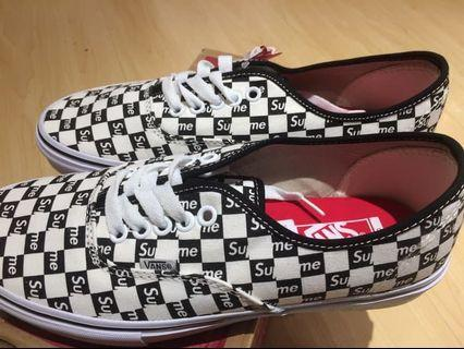 Supreme Vans Checkerboard Slip On