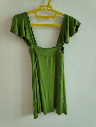 Green stretch top/dress