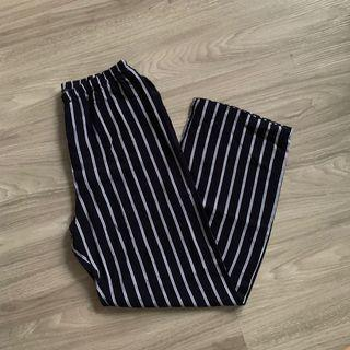 Brandy Melville Blue and White Striped Frankie Pants