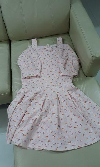 Lzzie Pink Fox Dress strap / half sleeveless