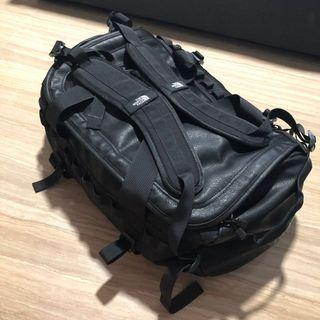The North Face leather black base camp duffel back pack