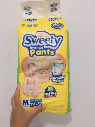 Pampers diapers sweety bronze size M #BAPAU