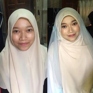 Make up pengantin syari muslimah jabodetabek