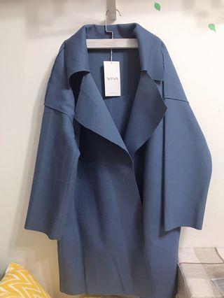 藍色長款外套