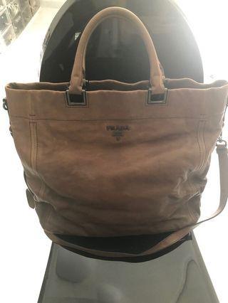 Prada tote bag full leather inside and outside