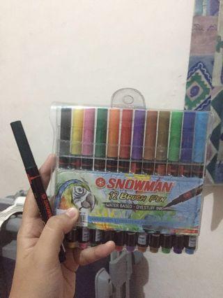 Snowman Brush Pen (12 + 1) murah bgt