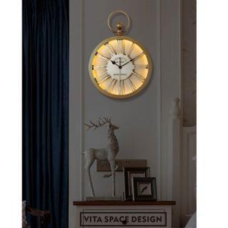 Nordic Packet Watch Design RC LED Wall Clock, 北歐鉈錶款LED掛牆鐘_搖控