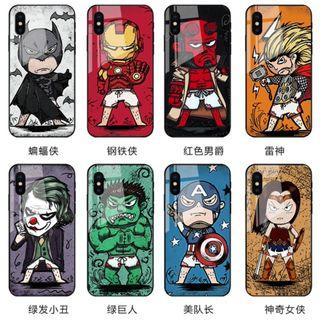 復仇者職盟4鋼化玻璃手機殼