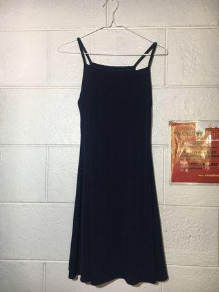Preloved Navy Blue Halter Dress
