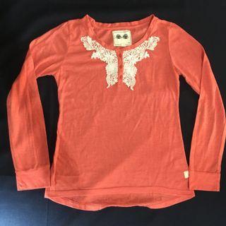 Kamiseta Orange Long Sleeves Top