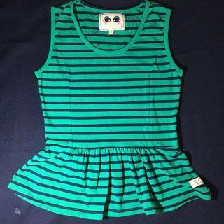 Kamiseta Green Peplum Top