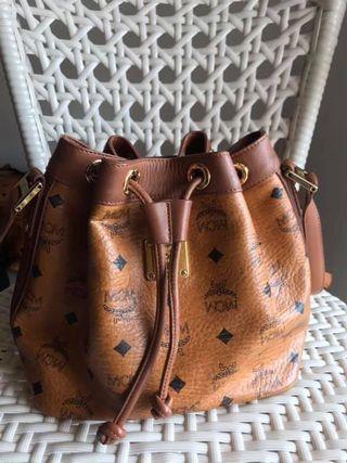 MCM Visetos Drawstring Bag