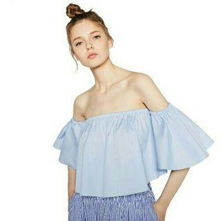 Fashion Off Shoulder Flare Sleeve Blouse Top