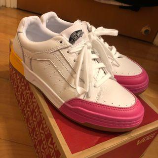 Van Vans Highland colour block trainers 雙色 白皮鞋