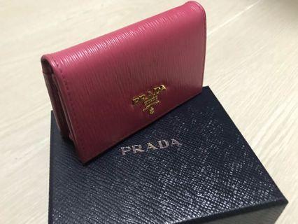 粉紅色 Prada Card Holder