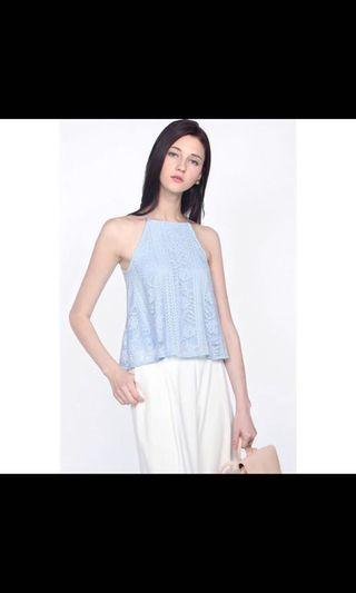 Fayth Florida lace top (periwinkle)