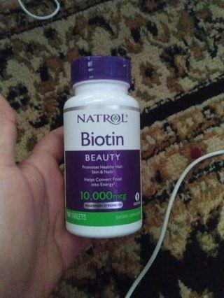 #BAPAU Natrol Biotin 10000mcg