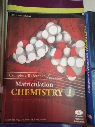 Assorted matriculation biology and chemistry books