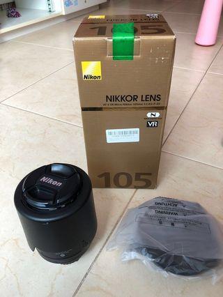 Nikon 105mm VR f2.8 Macro Len