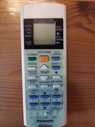 Almost new aircon remote control compatible for Panasonic