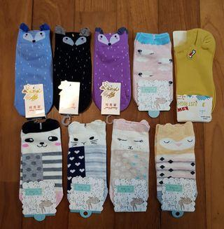 (4 for $10 with mail) Cute socks