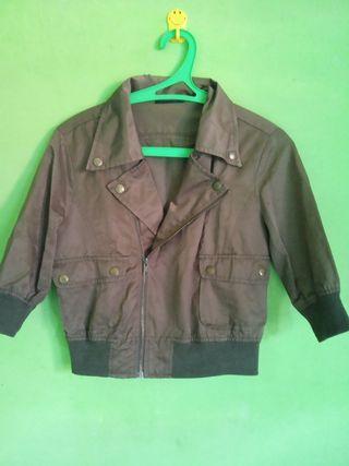 crop jacket Army