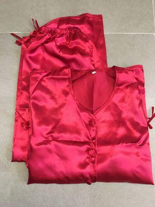 中式結婚紅睡衣