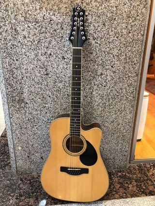 Greg Bennett GD-112SCE/N 12 String Acoustic Electric Guitar