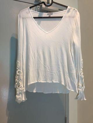 CHARLOTTE RUSSE white lace top