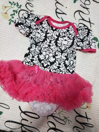 Pink Fluffy Romper Dress