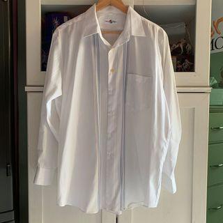 Vintage Striped White Shirt