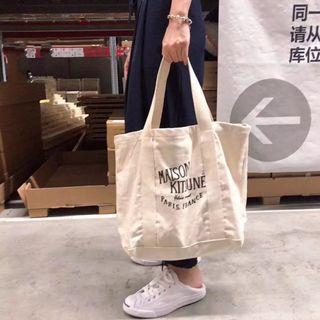全新品 Maison Kitsune 法國品牌 托特包