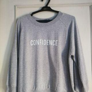 "Mango Grey ""Confidence"" Sweater"