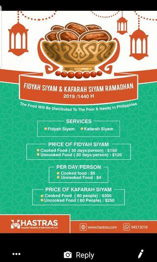 FIDYAH SIYAM - Hari Raya - Ramadan