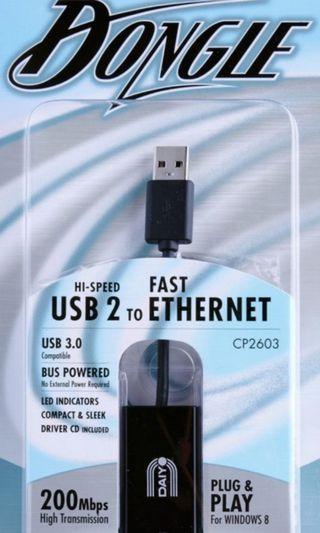 Daiyo USB 2.0 to Ethernet (RJ45) Dongle