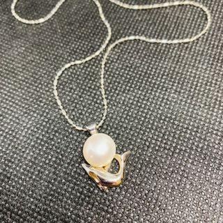 🚚 鍍銀海豚天然珍珠項鍊