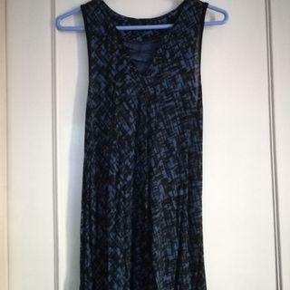 Black Sheep Blue Tie-up Dress